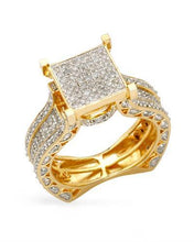 Load image into Gallery viewer, Lundstrom Brand New Ring with 1.4ctw diamond 14K/925 Two tone Gold plated Silver