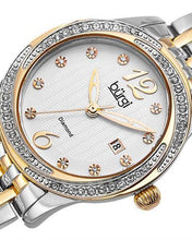 Load image into Gallery viewer, burgi BUR102TTG Brand New Quartz date Watch with 0.05ctw of Precious Stones - crystal and diamond