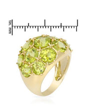 Load image into Gallery viewer, Magnolia Brand New Ring with 11.5ctw peridot 14K Yellow gold