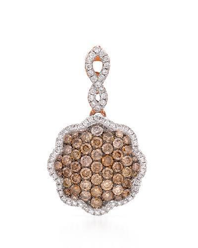 Brand New Pendant with 0.85ctw of Precious Stones - diamond and diamond 14K Rose gold