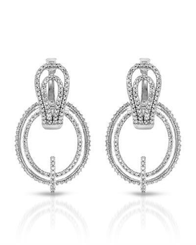 Brand New Earring with 0.9ctw diamond 10K White gold