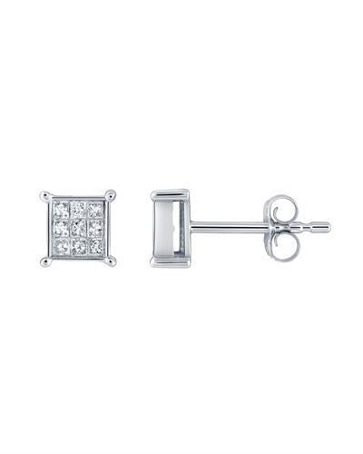 Brand New Earring with 0.25ctw diamond 14K White gold