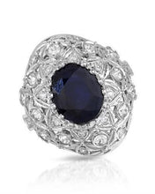 Load image into Gallery viewer, Lundstrom Brand New Ring with 10.31ctw of Precious Stones - diamond, sapphire, and sapphire 14K White gold