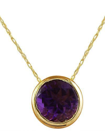 1.50 Carat Amethyst 14K Yellow Gold Necklace