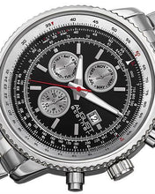 Load image into Gallery viewer, AUGUST Steiner AS8162SSB Brand New Swiss Quartz day date Watch