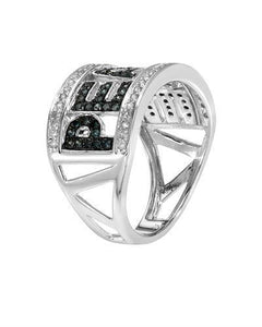 Lundstrom Brand New Ring with 0.54ctw of Precious Stones - diamond and diamond 14K White gold