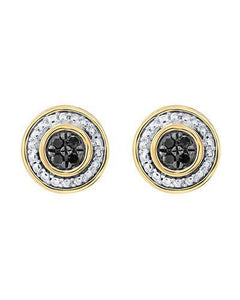 Brand New Earring with 0.1ctw diamond 10K Yellow gold