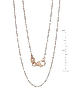 Millana Brand New Necklace 14K Two tone gold