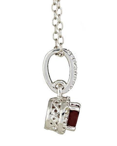 Brand New Necklace with 0.71ctw of Precious Stones - diamond and ruby 925 Silver sterling silver