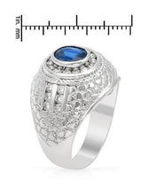 Load image into Gallery viewer, Brand New Ring with 2.34ctw of Precious Stones - diamond and sapphire 14K White gold