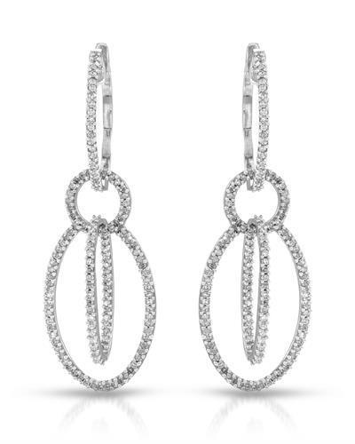 Brand New Earring with 0.68ctw diamond 10K White gold