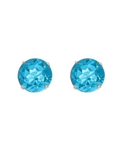 Brand New Earring with 1.12ctw topaz 14K White gold