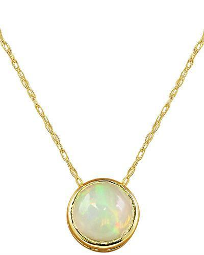 1.50 Carat Opal 14K Yellow Gold Necklace
