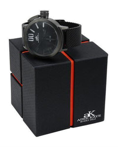 Adee Kaye ak7285-MIPB/MESH/BK Brand New Quartz date Watch