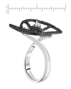 Lundstrom Brand New Ring with 0.75ctw of Precious Stones - diamond and diamond 14K White gold