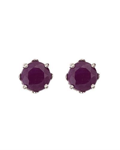 Brand New Earring with 1.4ctw ruby 925 Silver sterling silver