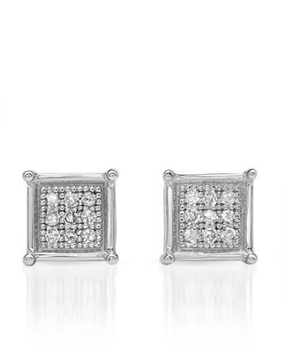 Lundstrom Brand New Earring with 0.07ctw diamond 10K White gold