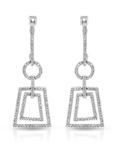 Brand New Earring with 0.59ctw diamond 10K White gold