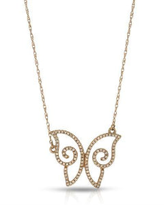Brand New Necklace with 0.19ctw diamond 10K Rose gold