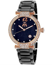 Load image into Gallery viewer, Jivago JV2215 Bijoux Brand New Quartz date Watch with 0ctw of Precious Stones - crystal and mother of pearl