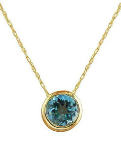 1.50 Carat Topaz 14K Yellow Gold Necklace