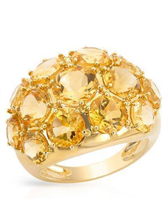 Magnolia Brand New Ring with 7.2ctw citrine 14K Yellow gold