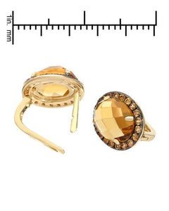 Brand New Earring with 5.28ctw of Precious Stones - citrine and sapphire 14K Yellow gold