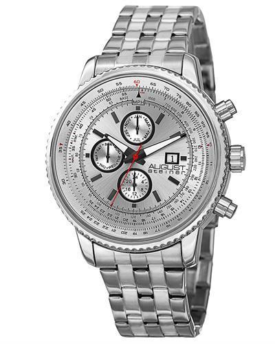 AUGUST Steiner AS8162WT Brand New Swiss Quartz day date Watch