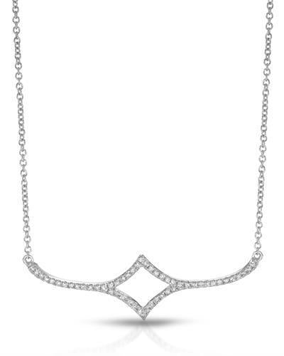 Brand New Necklace with 0.21ctw diamond 14K White gold