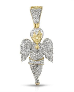 Brand New Pendant with 0.85ctw diamond 14K/925 Yellow Gold plated Silver