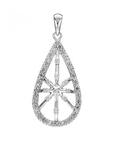 Brand New Pendant with 0.22ctw diamond 10K White gold