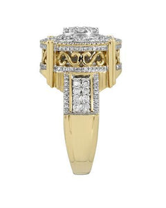 Brand New Ring with 1.53ctw diamond 10K Yellow gold