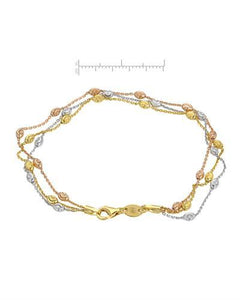 Millana Brand New Bracelet 14K Three tone gold