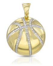 Load image into Gallery viewer, Brand New Pendant with 0.55ctw diamond 14K/925 Yellow Gold plated Silver