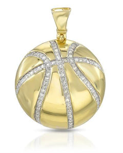 Brand New Pendant with 0.55ctw diamond 14K/925 Yellow Gold plated Silver