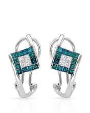Load image into Gallery viewer, Brand New Earring with 0.87ctw of Precious Stones - diamond and diamond 14K White gold