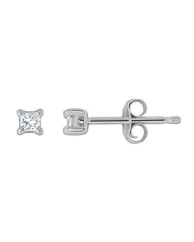 Brand New Earring with 0.1ctw diamond 14K White gold