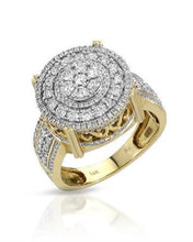 Load image into Gallery viewer, Brand New Ring with 1.53ctw diamond 10K Yellow gold