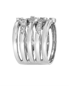 Lundstrom Brand New Ring with 0.5ctw diamond 14K White gold