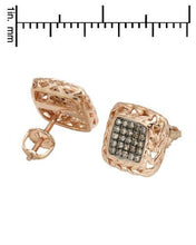 Load image into Gallery viewer, Lundstrom Brand New Earring with 0.3ctw diamond 925 Rose sterling silver
