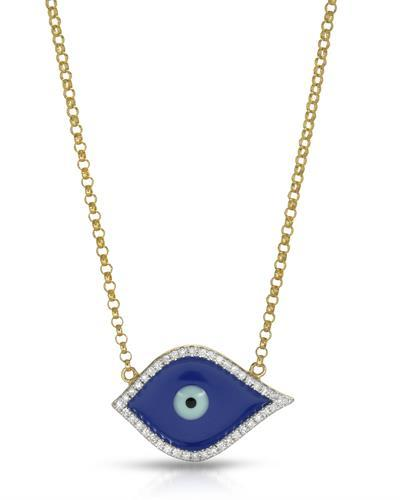 Brand New Necklace with 0.14ctw diamond  Multicolor Enamel and 14K Yellow gold