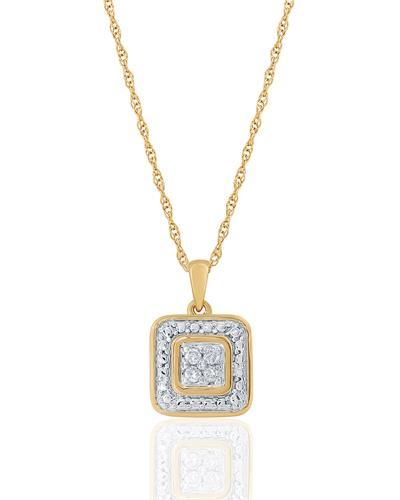 Brand New Necklace with 0.1ctw diamond 10K Yellow gold