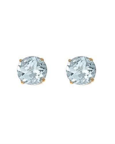 Brand New Earring with 0.82ctw aquamarine 14K Yellow gold