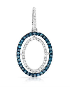 Brand New Pendant with 0.31ctw of Precious Stones - diamond and diamond 14K White gold