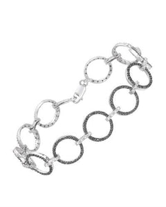 Brand New Bracelet with 1ctw of Precious Stones - diamond and diamond 925 Silver sterling silver
