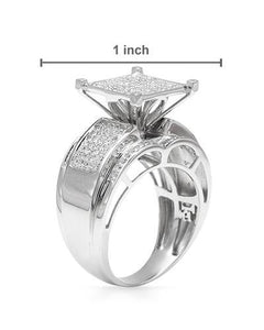 Lundstrom Brand New Ring with 0.85ctw diamond 10K White gold