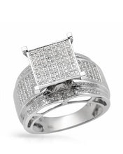Load image into Gallery viewer, Lundstrom Brand New Ring with 0.85ctw diamond 10K White gold