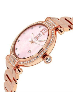 Jivago JV2219 Bijoux Brand New Quartz date Watch with 0ctw of Precious Stones - crystal and mother of pearl
