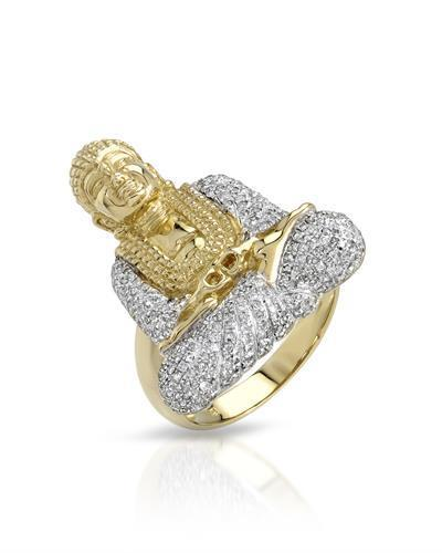 Brand New Ring with 0.86ctw diamond 10K Yellow gold