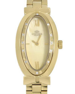Oniss ON2279-LG Paris Brand New Swiss Quartz Watch with 0ctw of Precious Stones - mother of pearl and sapphire